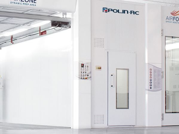 Polin Paint Mixing Room with Air Force Booth